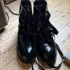 Barneys Newyork lace-up boots